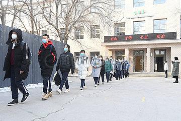 CHINA Beijing-COVID-19-Schüler des CAMPUS (CN)