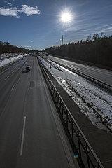 Autobahn A99  Autobahnring Muenchen  Januar 2021