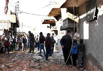 SYRIEN-HAMA-ISRAELISCHER Raketenangriff