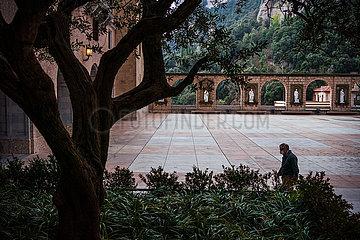 SPANIEN-Kloster Montserrat-COVID-19