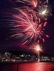 NEUSEELAND-WELLINGTON ANNIVERSARY DAY-FEUERWERK