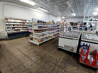 Kleiner Supermarkt in einer laendlichen Region