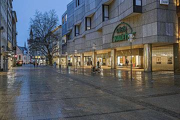 Galeria Kaufhof  Kaufinger Strasse  Fussgaengerzone  Muenchen  Januar 2021