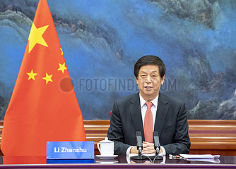 CHINA-BEIJING-LI ZHANSHU-IRAN-PARLIAMENT SPEAKER-TALKS (CN)