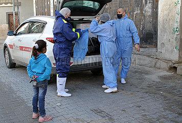 MIDEAST-GAZA-STADT-MOBILE KLINIKEN