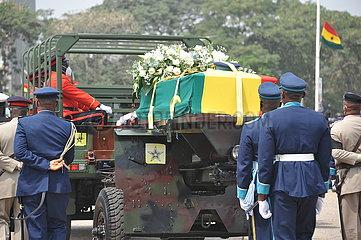 GHANA-ACCRA-Former President-RAWLINGS-GRAB