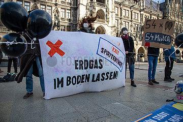 Extinction Rebellion demonstriert gegen Spirit Energy und Erdgaskraftwerk der Stadtwerke München