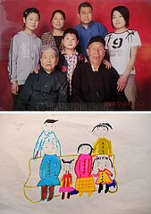 (FOCUS) CHINA-JIANGXI-NANCHANG-Familie Foto von A RAILWAY Voiturier (CN)
