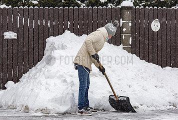 LETTLAND-RIGA-Severe Weather-SNOW
