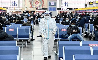 CHINA-BEIJING-RAILWAY STATION-DISINFECTION (CN)