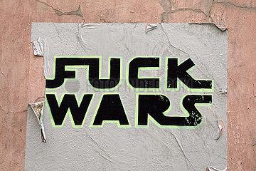 Krakau  Polen  Wurst ist auf eine Hauswand gemalt