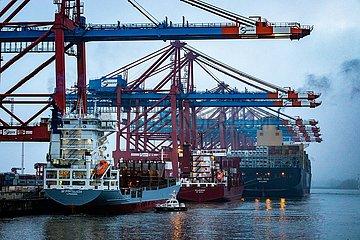 Containerschiffe am Eurogate