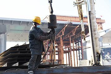 CHINA-SHANDONG-JINAN-YELLOW RIVER-BRIDGE-CONSTRUCTION (CN)