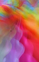 Berlin  Deutschland  abstraktes farbiges Wellenmuster