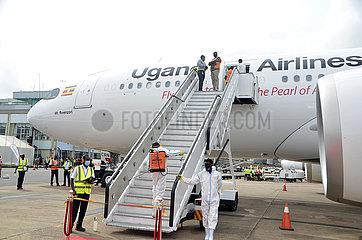 UGANDA-ENTEBBE-SECOND AIRBUS A330-800NEO Flugzeug ANREISE