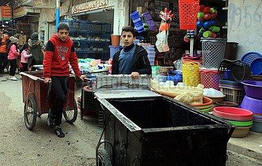 JORDAN-AMMAN-palästinensisch-FLÜCHTLINGS-LIFE
