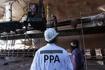 GRIECHENLAND-PIRAEUS-LUNAR NEW YEAR-chinesische Mitarbeiter