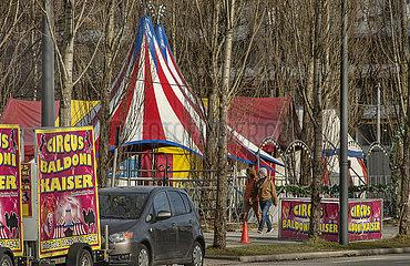 Circus Baldoni  geschlossen im Lockdown  Muenchen  Februar 2021
