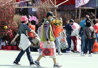 CHINA-HONGKONG-LUNAR NEW YEAR-Blumenhandel (CN)