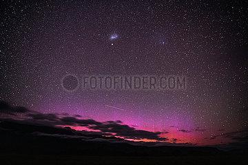 NEUSEELAND-FOX GLACIER-AURORA