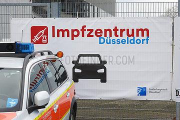 Corona Impfzentrum Duesseldorf  Nordrhein-Westfalen  Deutschland