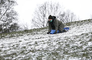 BRITAIN-LONDON-DAILY LIFE-SNOW
