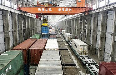 CHINA-XINJIANG-ALATAW PASS-CHINA-EUROPE Güterzüge (CN)