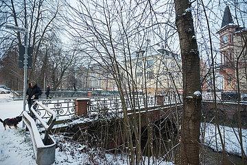 Morgen Schnee