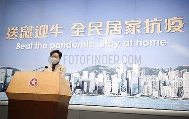 CHINA-HONG KONG-CARRIE LAM-COVID-19 (CN)