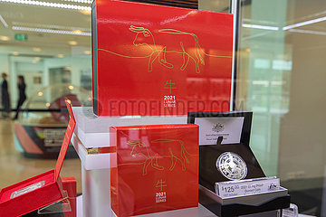 AUSTRALIA-CANBERRA-COINS OF OX-CHINESE NEW YEAR-CELEBRATION
