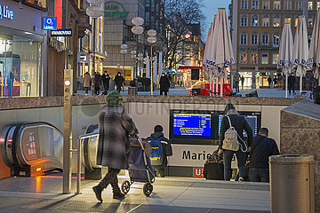 U-Bahnhof Marienplatz  Muenchen  Februar 2021
