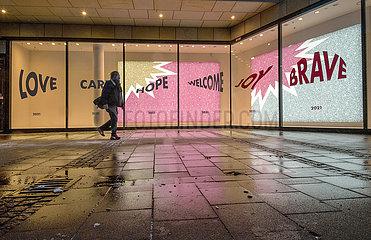 Kaufhaus Oberpollinger  Muenchen  10. Februar 2021