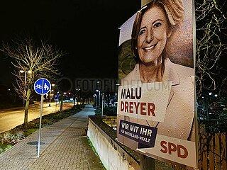 Wahlplakat zur Landtagswahl in Rheinland-Pfalz 2021