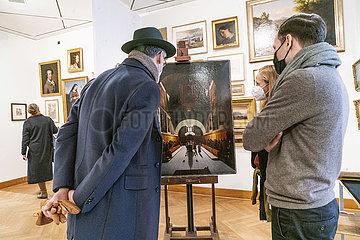 Besucher + Kunstwerke