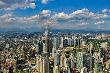 Blick über Kuala Lumpur   view over Kuala Lumpur