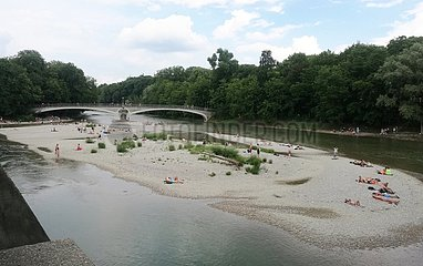 Isarstrand in Muenchen