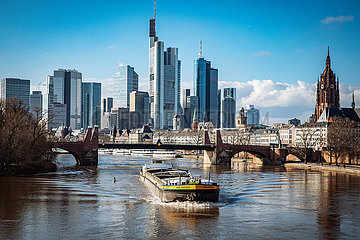 Skyline Finanzzentrum Frankfurt am Main