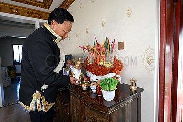 CHINA-TIBETANISCHER NEW yaer-SPRING FESTIVAL-FEIER (CN)