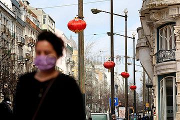 PORTUGAL-LISSABON-chinesische Neujahr-LANTERNS
