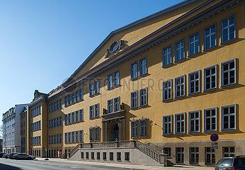 Dresden  Deutschland - Gebaeude des Beruflichen Schulzentrums fuer Wirtschaft in Dresden