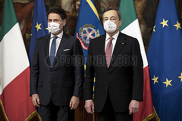 ITALIEN-ROM-NEW PM-Übergabe-Zeremonie