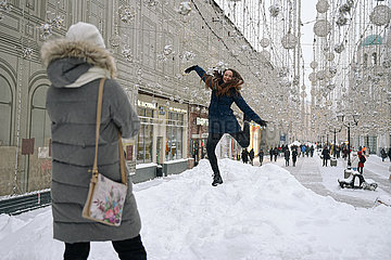 RUSSLAND-MOSCOW-SNOW