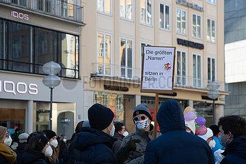 Querdenken Demo-Hopping in München