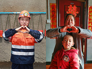 CHINA-SPRING FESTIVAL-ARBEITNEHMER-REUNION IN BILDERN