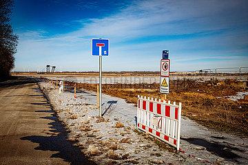 Dorf Lützerath wird Opfer des Garzweiler Tagebaus der RWE
