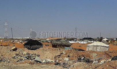 Riad  Saudi-Arabien  aermliche Wohnverhaeltnisse am Rande der Stadt