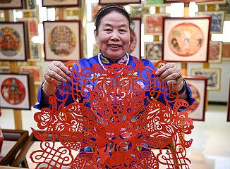 (VistaNingxia) CHINA-NINGXIA-YINCHUAN-IMMATERIELLES KULTURGUT rote Farbe-CHINESE LUNAR NEW YEAR-FEST (CN)