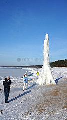 LETTLAND-Saulkrasti-ICE-OSTSEE
