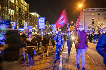 Gedenkdemonstration für die Opfer des Terroranschlag in Hanau
