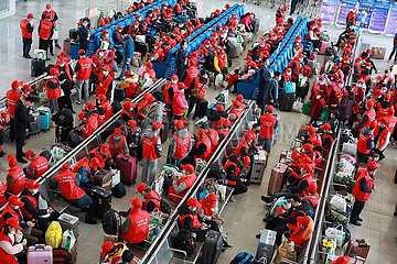 CHINA-GUIZHOU-SANSUI-MIGRANT Workers- CHARTERED TRAIN (CN)